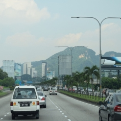Approaching Batu Caves