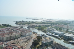 View of Malacca from Taming sari