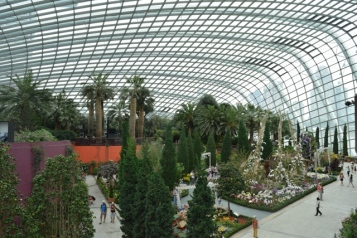 Inside Flower Dome