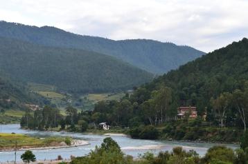 Teh confluence of Mo Chhu and Po Chhu rivers