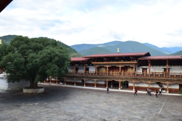 Courtyard inside Dzong