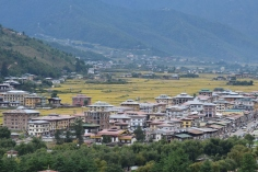 View of Paro town from the Dzong