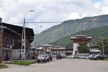 Entrance to Paro town