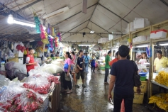 Inside flower market