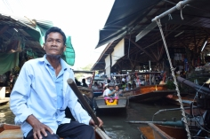 At floating market