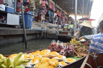 Fruit seller on boat