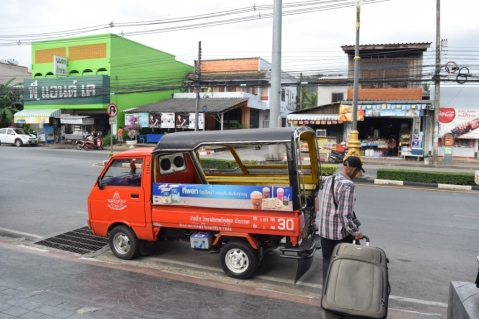 Our tuk-tuk to Bus station