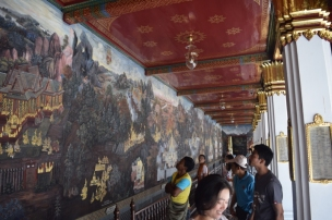 Wall paintings at Grand Palace