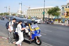 Tuk Tuk outside Grand Palace