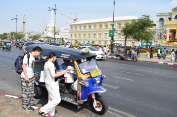 Tuk Tuk outside Grand Palace