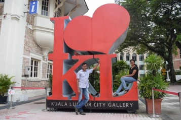 Outside KL City Gallery