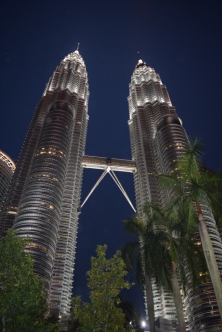 The Twins at night