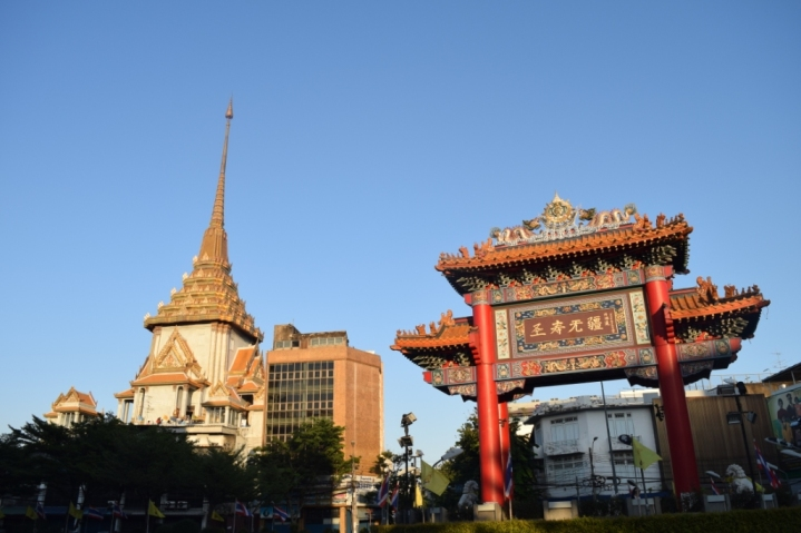 View of Temple of Golden Buddha from Yarowat Road