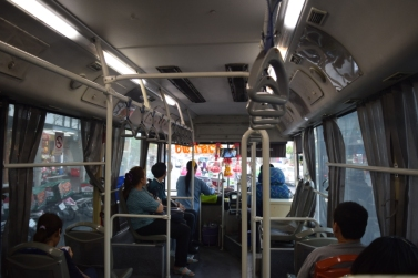 Inside city bus