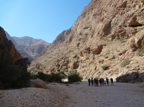 Walking on the river bed