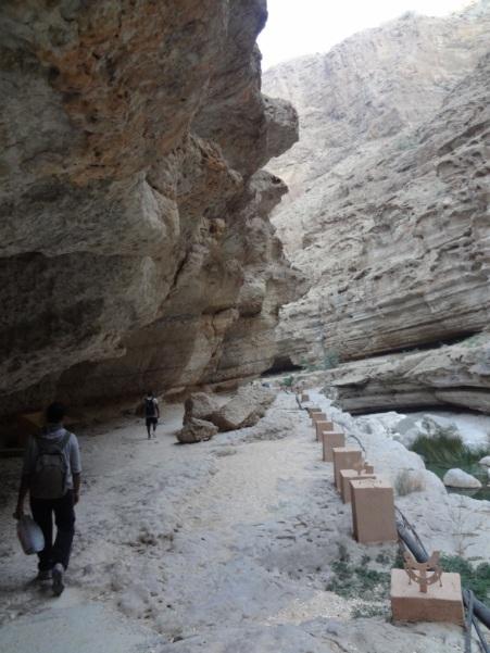 Walkways into the wadi