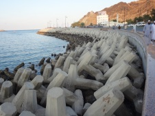 Seawall protecting the Corniche
