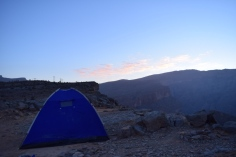 Our Tent atop Jebel Shams