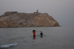 Amar and Vineeth crossing the sea