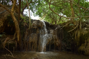 The small waterfall