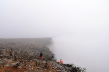 Teeq cave view point covered in fog