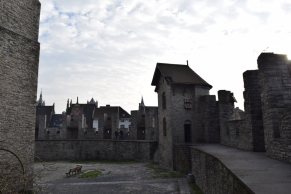 Inside walls of the castle