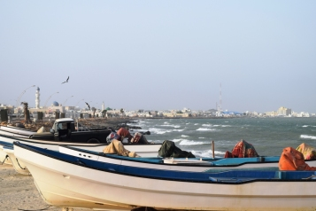 Masirah - View of the town from the harbour